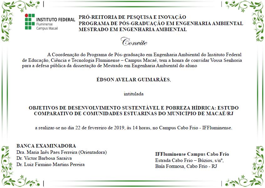 Convite Edson Avelar