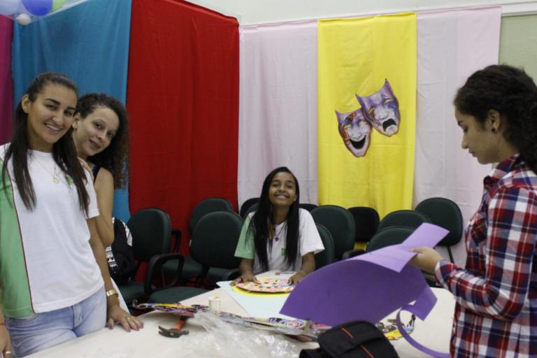 Equipe que trabalhou na produção do vídeo foi composta de alunos do curso Técnico em Meio Ambiente.