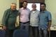 Iran Correia com sua banca de defesa de dissertação em 07.02.2019: Pinedo, Hélio e Leandro Bruno. O aluno teve seu primeiro artigo premiado no  Congresso Brasileiro de Gestão Ambiental em 2018.