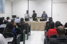 Aula inaugural do ProfEPT no miniauditório do Centro de Referência.