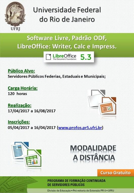 Cartaz - Curso LibreOffice UFRJ