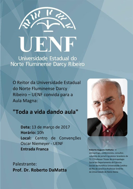 Convite Aula Magna Roberto DaMatta