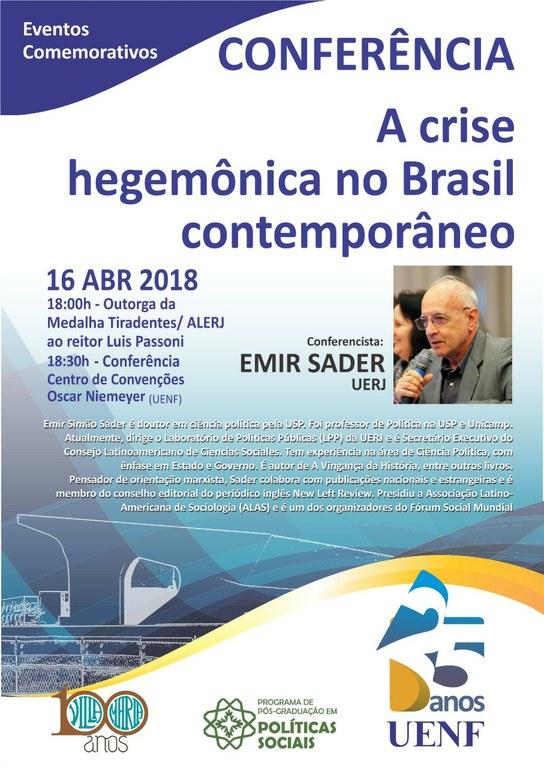 Conferência: A crise hegemônica no Brasil contemporâneo