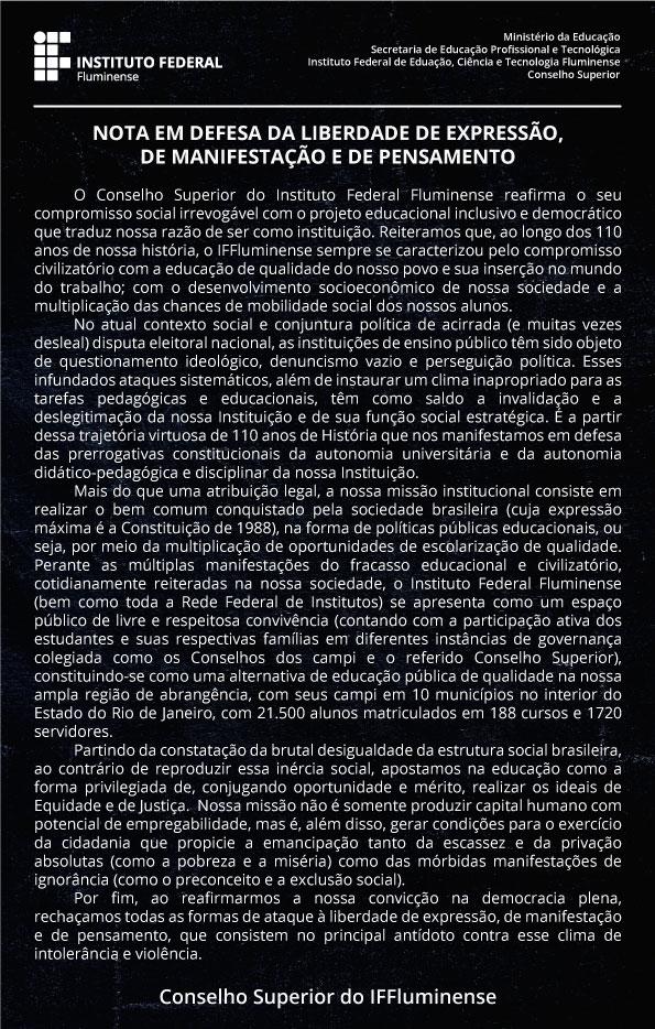 Manifesto do Conselho Superior