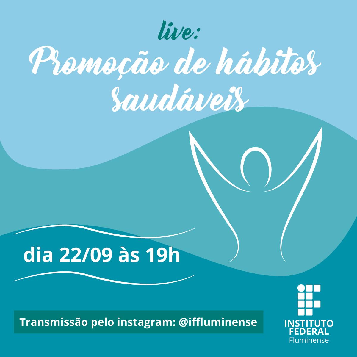 IFF promove live voltada aos servidores sobre hábitos saudáveis
