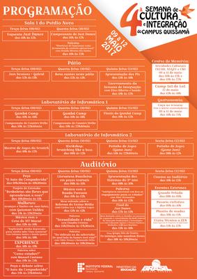 Programação da IV Semana de Integração do Campus Quissamã