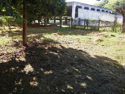 Espaço escolhido para a construção da horta escolar.