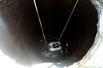 Protótipo desenvolvido realiza vídeo inspeção para concessionária de água e esgoto (Crédito: Divulgação IFF).