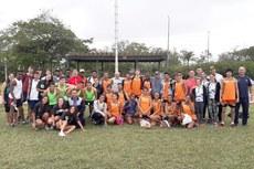 Atletas e treinadores que participaram da modalidade de atletismo