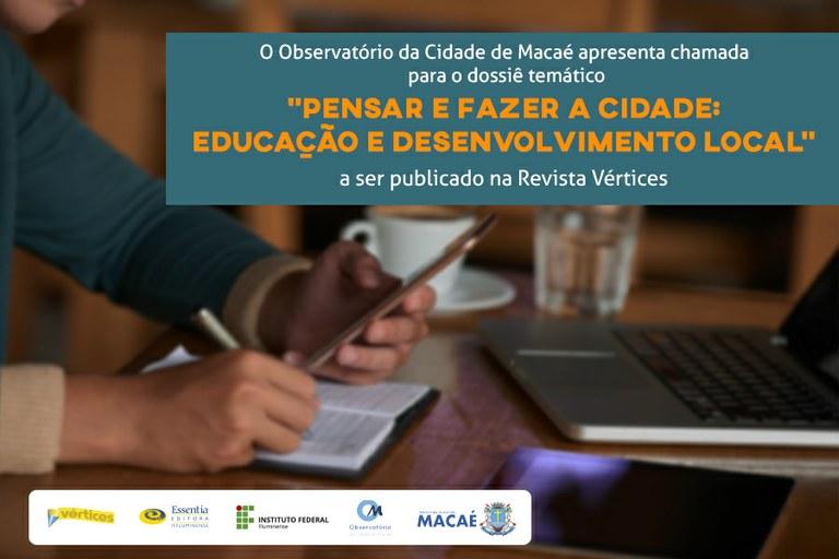 Aberta submissão de artigos para dossiê temático da Vértices sobre a cidade de Macaé