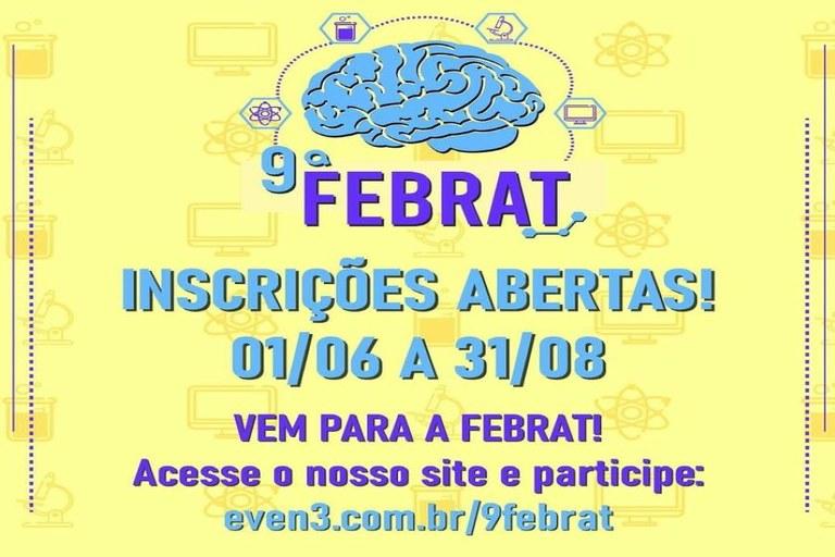 Abertas as inscrições para a 9ª Feira Brasileira de Colégios de Aplicação e Escolas Técnicas