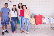 As doações foram entregues por servidores do IFFluminense.