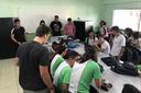 Estudantes do IFF Bom Jesus durante aula de Robótica (Foto: Divulgação)