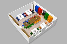 Maquete eletrônica do Lab IF Maker do Campus Bom Jesus (Imagem: Divulgação)