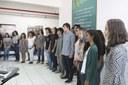 O coro é formado por estudantes do Campus Macaé