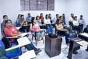 Servidores de diferentes campi participaram do curso ministrado pelo administrador e mestre em Gestão, Fernando Segalote.