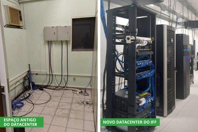 Espaço antigo e novo ambiente do Datacenter