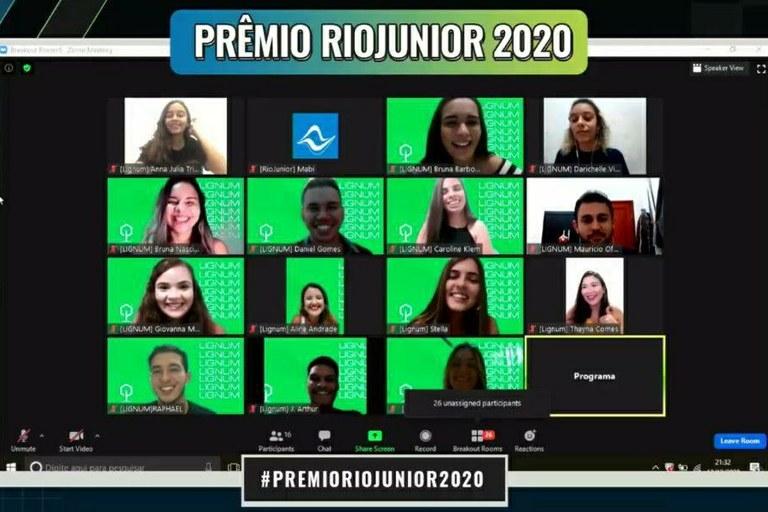 O Prêmio RioJunior foi realizado online, em dezembro de 2020, devido à pandemia do novo Coronavírus (Foto: Divulgação)