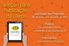 Essentia Editora está com inscrições de propostas para publicação de livros