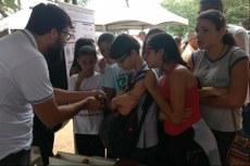 Interação entre os estudantes do Mestrado e alunos da Educação Básica.