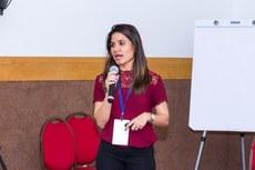 "A professora Lilian Coelho apresenta o projeto ""Eu, Cientista"". (Foto: Rodrigo Fonseca - IFAM)"
