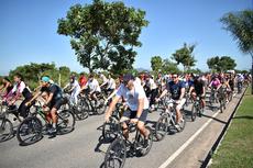 Ciclistas percorreram 9 km de distância