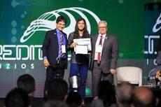 O aluno Vítor Emanuel, do Campus Macaé, foi um dos premiados (Fotos: Gildo Júnior - IFRR)