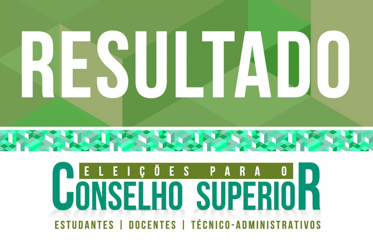 Homologação do resultado da eleição para o Consup