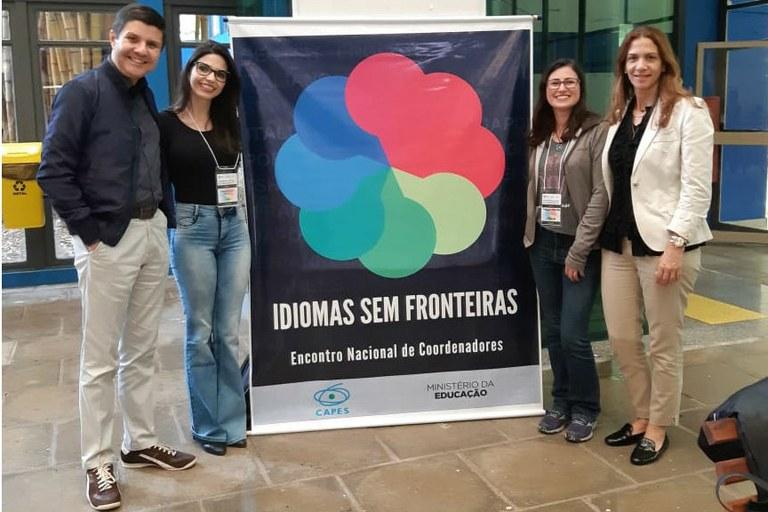 Edméa (canto à direita) com coordenadores locais de outras instituições. Programa será ampliado no IFF.