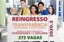 IFF abre inscrições para Ingresso de Portadores de Diploma, Reingresso e Transferências