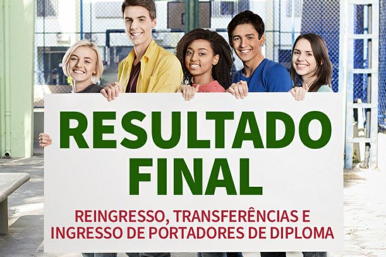 IFF divulga resultados das seleções de Ingresso de Portadores de Diploma, Reingresso e Transferências