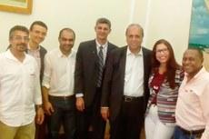 Gestores do IFF e representantes do município de Cordeiro com o governador Luiz Fernando Pezão
