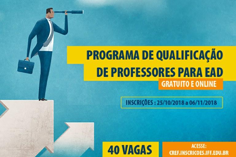 IFF lança Programa de Qualificação de Professores para Educação a Distância