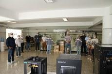 Gestores do IFF, voluntários e representantes da GNA, no Parque de Impressão 3D (Fotos: Pablo Nascimento).