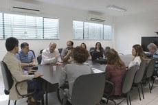 Representantes do Profnit durante reunião com gestores do IFF e da Uenf