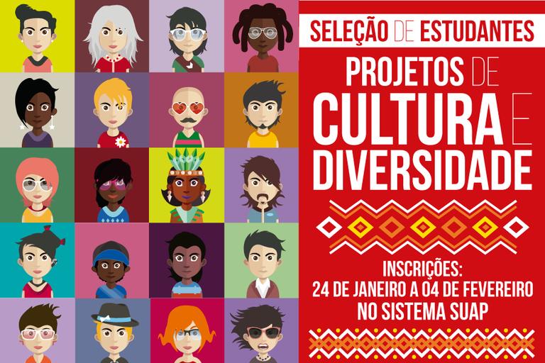 IFF seleciona estudantes bolsistas e voluntários para Projetos de Cultura e Diversidade