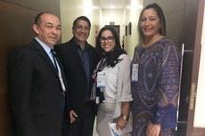 Ana Mary e Saionara com o reitor e o pró-reitor de Ensino do IFMT, Willian de Paula e Carlos Câmara