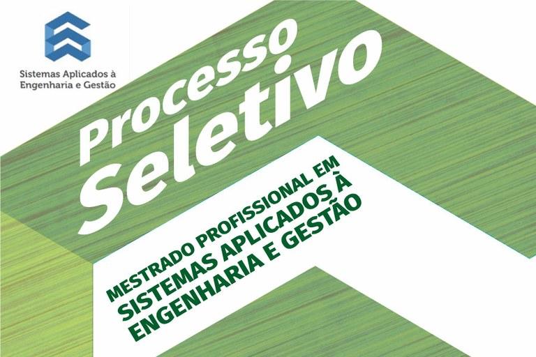 Inscrições Abertas para Mestrado em Sistemas Aplicados à Engenharia e Gestão (SAEG)