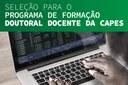 Inscrições abertas para o Programa de Formação Doutoral Docente da Capes
