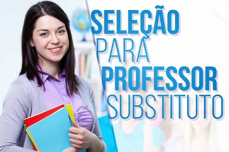 Inscrições para Professor Substituto terminam na terça-feira (10)