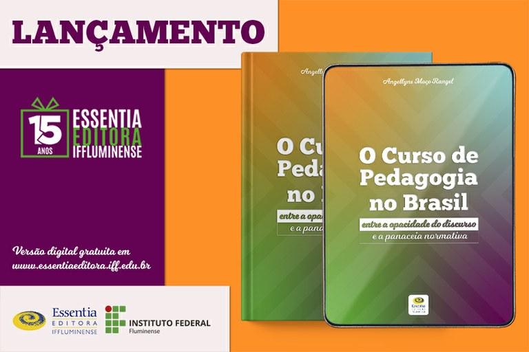 Lançamento de livro sobre Curso de Pedagogia marca programação dos 15 anos da Essentia Editora