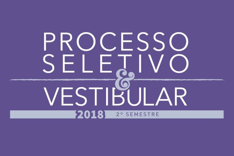 Lista de inscritos do Processo Seletivo e Vestibular 2018 - 2.º Semestre