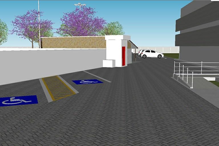 Obras do estacionamento da Reitoria do IFF estão em andamento