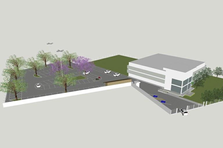 Estacionamento contará com 93 vagas para automóveis e 11 para motos