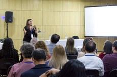 A participação de estudantes nas atividades de gestão permeou as apresentações (Foto: Rodrigo Fonseca - Ifam)