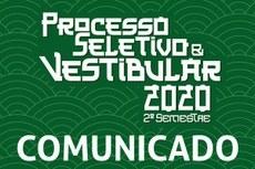 Processo Seletivo e Vestibular 2020 continuam suspensos
