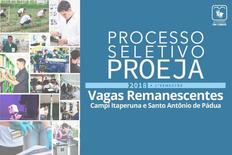 Processo Seletivo Simplificado Proeja 2018