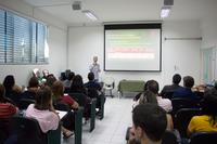 Pró-reitor de Ensino, Carlos Artur, destacou em sua fala a importância da intersetorialidade (Fotos: Tiago Quintes)