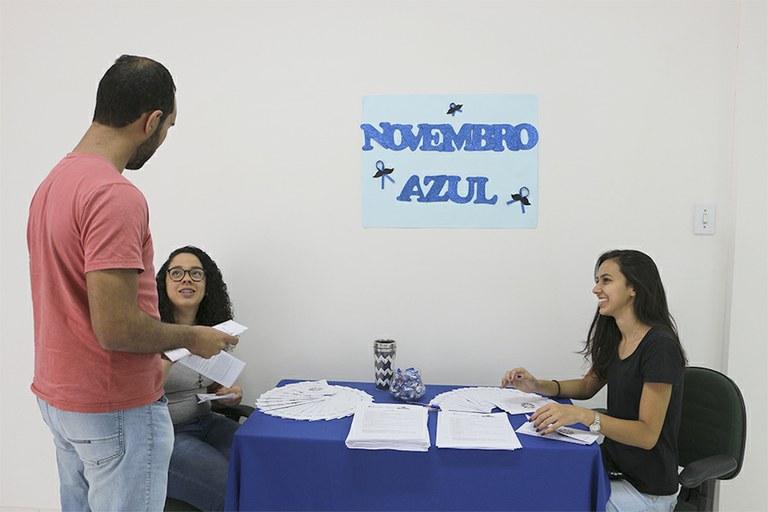 Projeto de Extensão promove ação do Novembro Azul na Reitoria