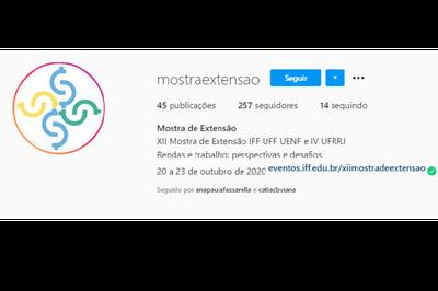 Projetos de extensão podem ser conhecidos pelo instagram do evento.
